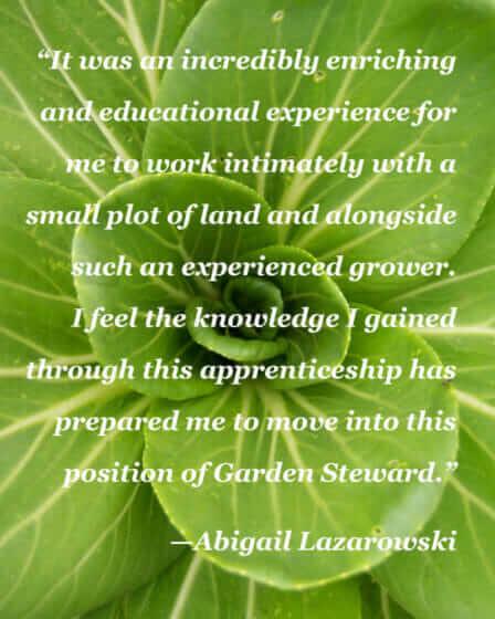 """Enriching and educational plot of land."" - Abigail Lazarowski"