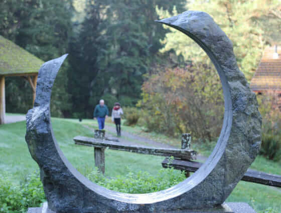 Portal stone sculpture by artist Lloyd Whanell